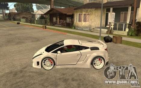 Lamborghini Gallardo MW para GTA San Andreas left