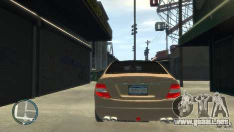 Mercedes-Benz C63 para GTA 4 vista superior