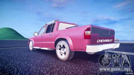 Chevrolet S10 para GTA 4 vista desde abajo