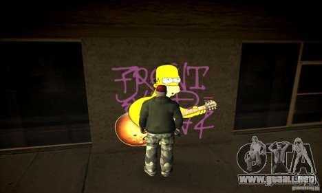 Simpson Graffiti Pack v2 para GTA San Andreas tercera pantalla