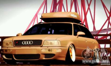Audi RS2 Avant Thug para visión interna GTA San Andreas