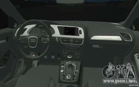 Audi S4 2009 para la vista superior GTA San Andreas