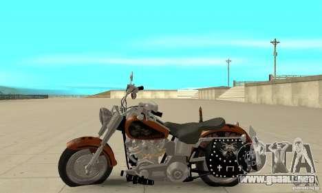 Harley Davidson FLSTF (Fat Boy) v2.0 Skin 2 para GTA San Andreas left