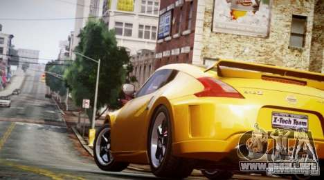 Nissan 370Z Final para GTA 4 Vista posterior izquierda