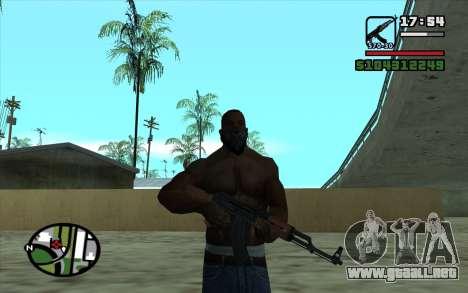 Kalashnikov modernizado para GTA San Andreas quinta pantalla