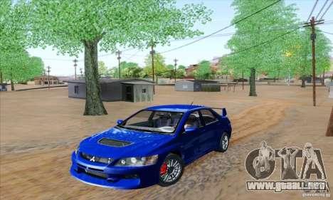 Mitsubishi Lancer Evolution 9 MR Edition para GTA San Andreas