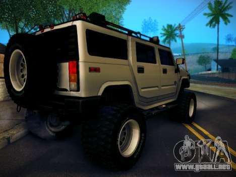 Hummer H2 Monster 4x4 para GTA San Andreas left