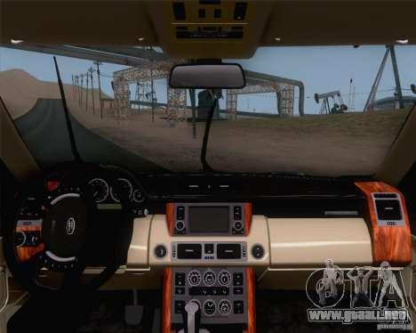 Land Rover Range Rover Supercharged 2008 para la visión correcta GTA San Andreas