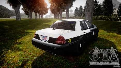 Ford Crown Victoria 2003 Florida CVPI [ELS] para GTA 4 vista lateral
