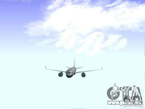 Boeing 757-200 United Airlines para visión interna GTA San Andreas