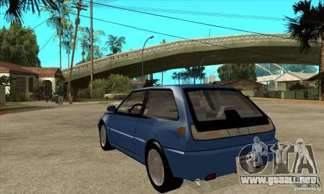 Volvo 480 Turbo para GTA San Andreas vista posterior izquierda