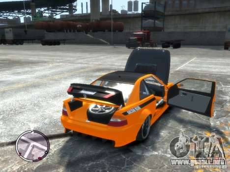 Sultan RS HD FreeStyle Team para GTA 4 vista hacia atrás