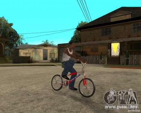 Skyway BMX para la visión correcta GTA San Andreas