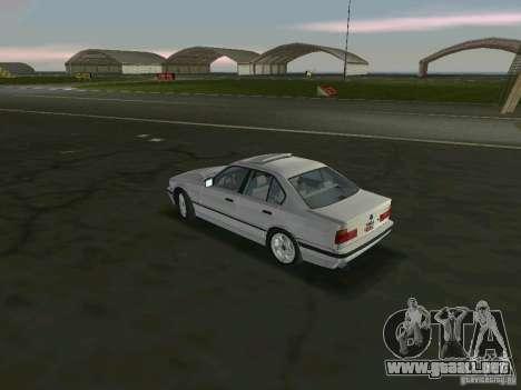 BMW 540i (E34) 1992 para GTA Vice City vista lateral izquierdo