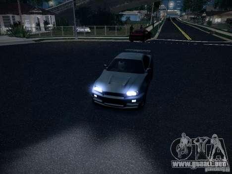 Nissan Skyline Z-Tune para GTA San Andreas vista hacia atrás