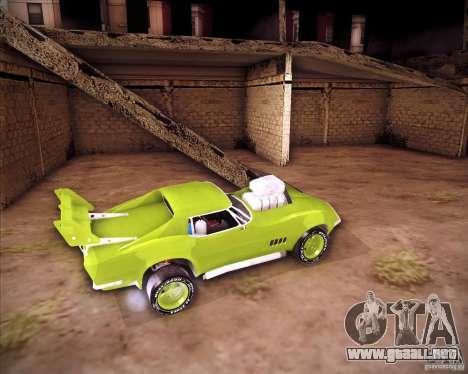 Chevrolet Corvette drag para la visión correcta GTA San Andreas