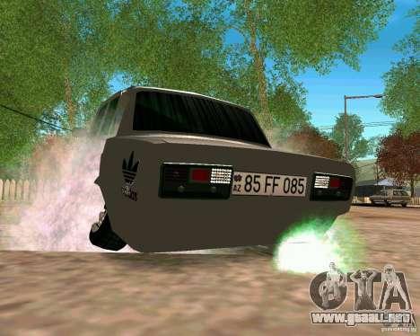 VAZ 2107 completo para la visión correcta GTA San Andreas