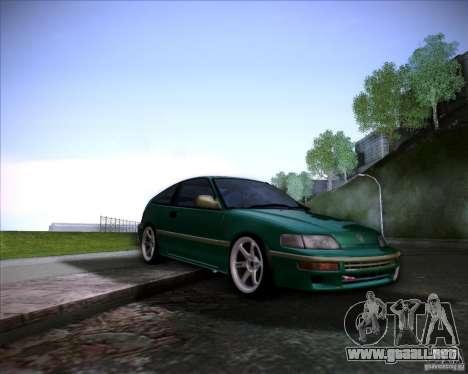 Honda Civic CRX JDM para vista inferior GTA San Andreas