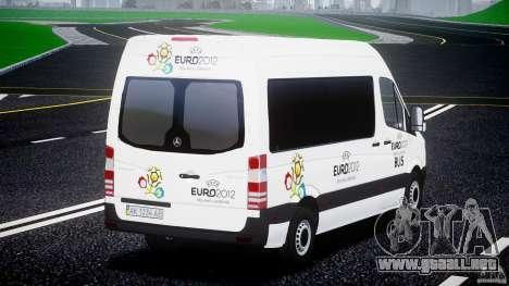 Mercedes-Benz Sprinter Euro 2012 para GTA 4 Vista posterior izquierda