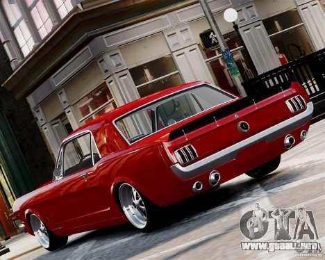 Ford Mustang GT MkI 1965 para GTA 4 Vista posterior izquierda