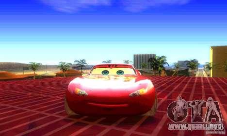 MCQUEEN from Cars para la visión correcta GTA San Andreas