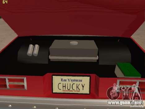 Chevrolet Nova Chucky para visión interna GTA San Andreas