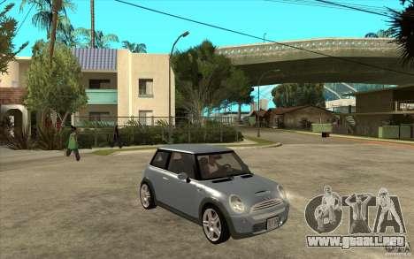 Mini Cooper - Stock para GTA San Andreas vista hacia atrás