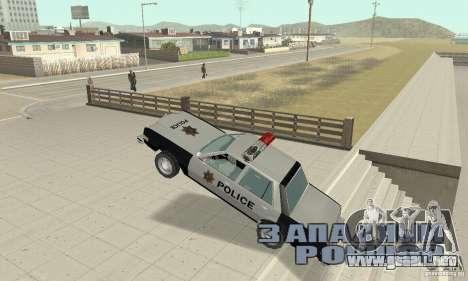 Dodge Diplomat 1985 Police para vista lateral GTA San Andreas
