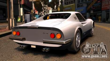 Ferrari Dino 246 GTS 1972 para GTA 4 Vista posterior izquierda
