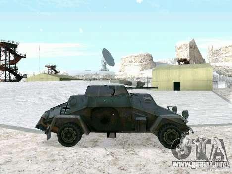 Vehículo blindado de juego tras las líneas enemi para GTA San Andreas left