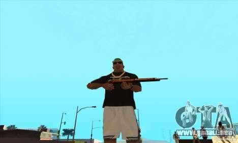 WEAPON BY SWORD para GTA San Andreas segunda pantalla