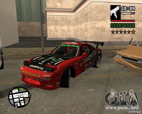 Mazda RX-7 drift king para visión interna GTA San Andreas