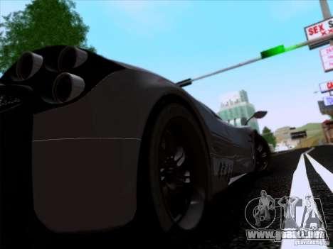 Pagani Huayra 2011 para visión interna GTA San Andreas