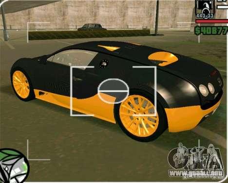 Bugatti Veyron Super Sport final para GTA San Andreas left