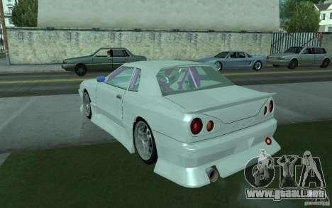 Elegy MS R32 para GTA San Andreas vista hacia atrás