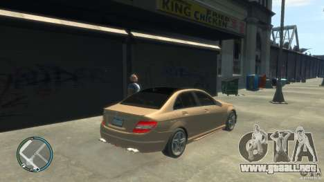 Mercedes-Benz C63 para GTA 4 left
