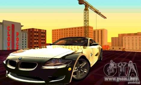 BMW Z4 E85 M para la vista superior GTA San Andreas