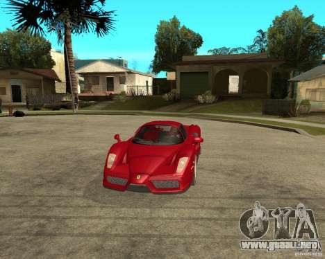 Ferrari Enzo para visión interna GTA San Andreas