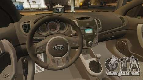 Kia Cerato Koup Edit para GTA 4 vista interior