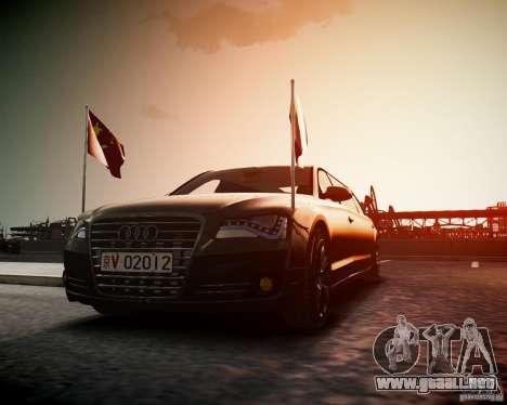 Audi A8 Limo para GTA 4 visión correcta