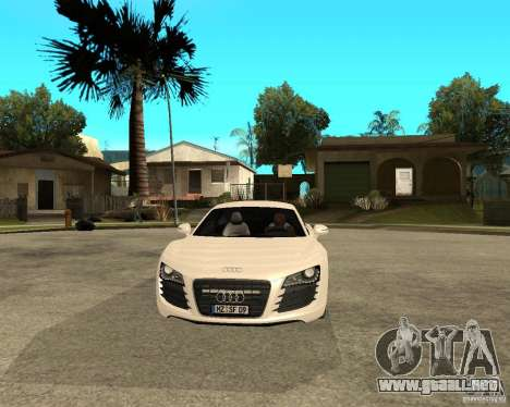 Audi R8 light tunable para GTA San Andreas vista hacia atrás