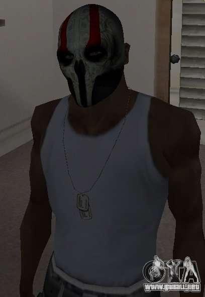 Army of Two Mask Skull para GTA San Andreas tercera pantalla
