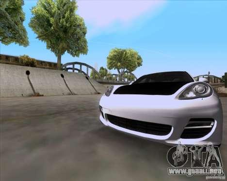 Porsche Panamera 970 Hamann para GTA San Andreas vista posterior izquierda