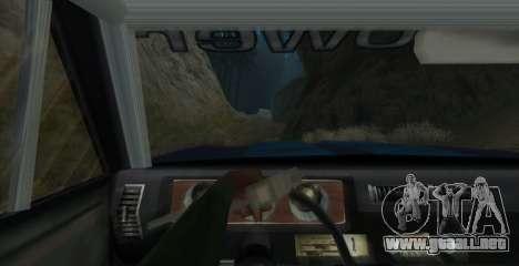 Eon SabreTaur Picador para GTA San Andreas vista hacia atrás