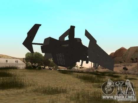 Vtol Crysis para GTA San Andreas vista posterior izquierda