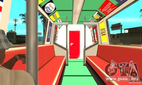 Liberty City Train Red Metro para la visión correcta GTA San Andreas