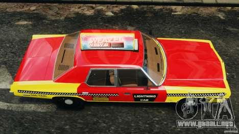 Dodge Monaco 1974 Taxi v1.0 para GTA 4 visión correcta