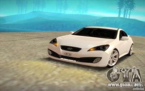 Hyundai Genesis 3.8 Coupe para la visión correcta GTA San Andreas