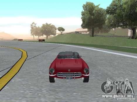 Chevrolet Corvette C1 para GTA San Andreas vista hacia atrás