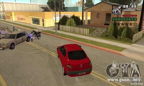 Condujo el rojo-conseguir una estrella para GTA San Andreas sucesivamente de pantalla
